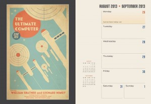Star Trek 2014 16-month engagement calendar sample
