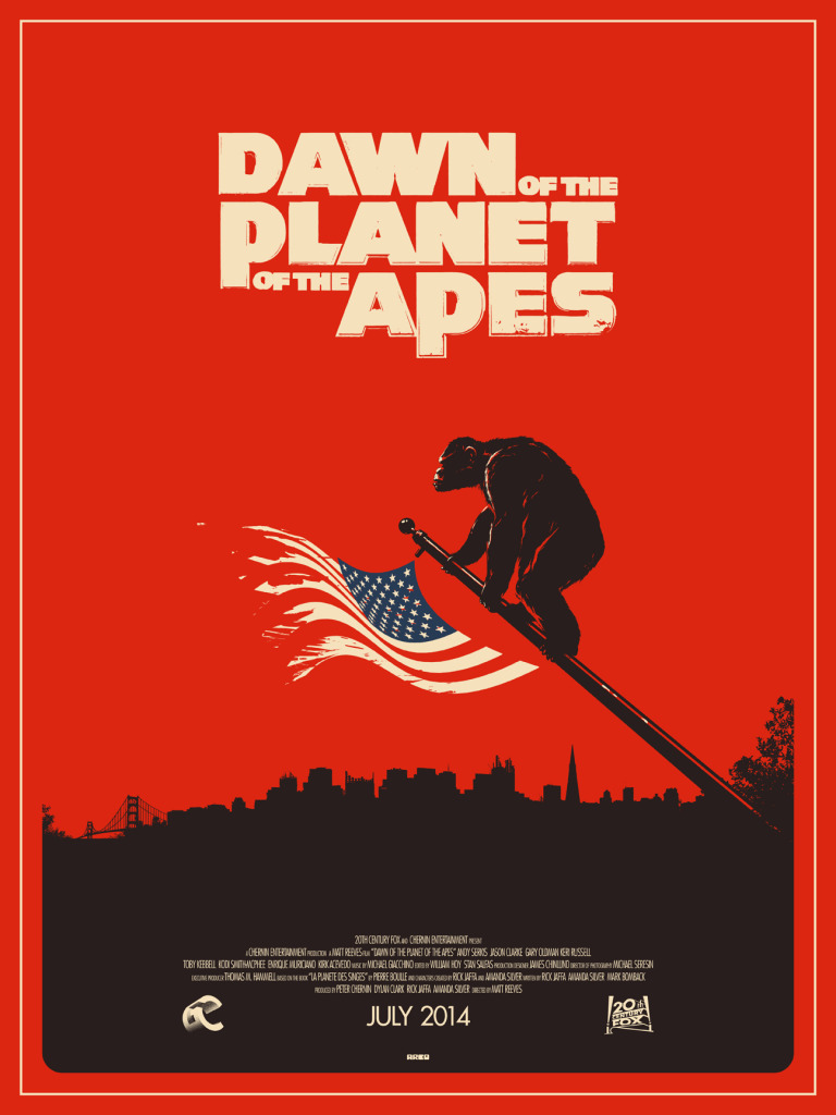 treknexus Dawn of the Planet of the Apes poster alternative